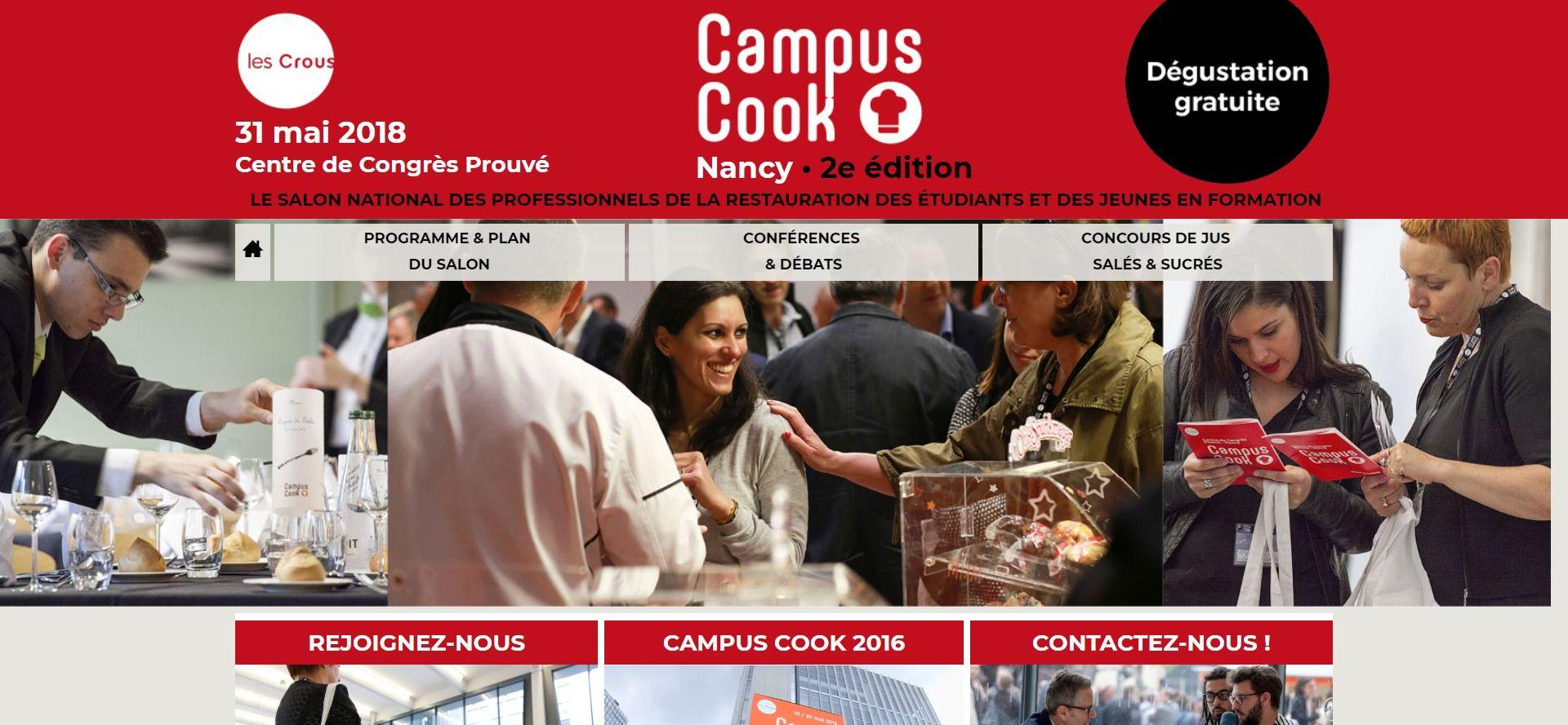 Capture d'écran du site campuscook.fr